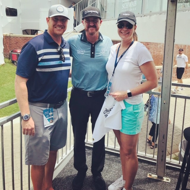 BrookStone employees with PGA golfer Jimmy Walker at the Charles Schwab Challenge