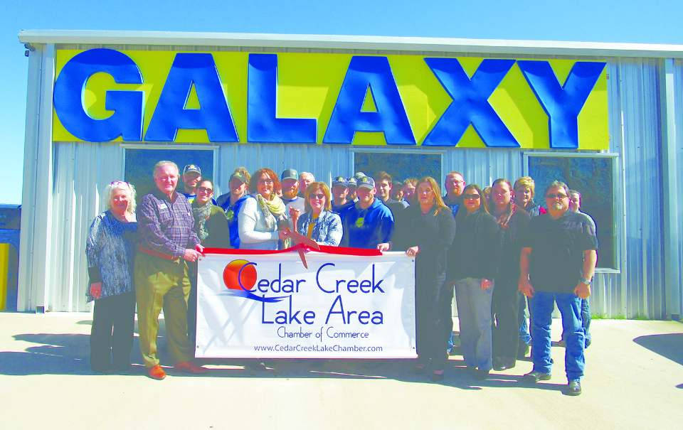 Ribbon cutting ceremony honoring new Cedar Creek Chamber of Commerce member, Galaxy Lifts