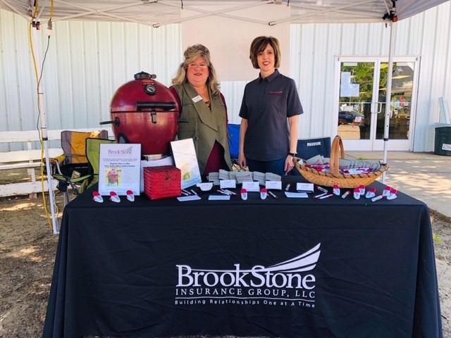 BrookStone employees representing the agency at the Hunt County Fair